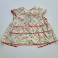 Vintage Child's Toddler's Apron Pinafore Smock Tie-Back