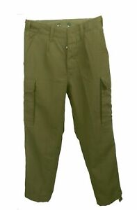 """Combat Trouser Fine Cotton BW German Army EU Made Washed Fabric Olive XL 38"""" NEW"""