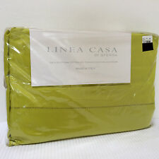 Linea Casa by SFERRA 300tc TWIN Sheet SET Egyptian Cotton Sateen Lime Green NEW