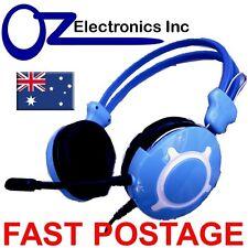 NEW Headset Headphone Microphone for PC MAC SKYPE BRAND COD Online Gaming BLU