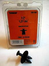 "Dorman 799-105 Bumper Cover Retainer Nylon Rivets 1/2"" Push-In Clips, 11 Pieces"