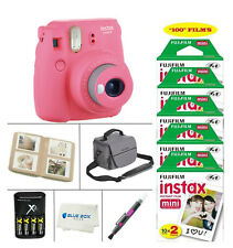 Fujifilm Mini 9 Instant Film Camera (Flamingo Pink)+100 Film Sheets+ Accessories