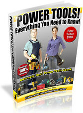 POWER TOOLS! EVERYTHING YOU NEED TO KNOW! PDF EBOOK FREE SHIPPING RESALE RIGHTS