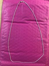 925 Sterling Silver Plt 1mm Snake Chain Necklace 22 inch