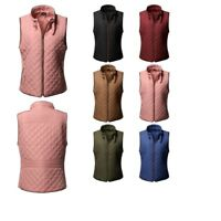 FashionOutfit Plus Size Solid Quilted Padding Vest with Suede Piping Details