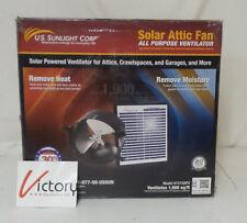 New unit US SUNLIGHT CORP SOLAR ATTIC FAN ALL PURPOSE VENTILATOR Model 1015APV