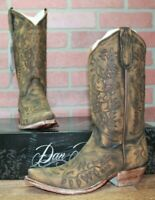 Dan Post Boots Women's Irresistible Cowgirl Boot DP4065 Brown Sanded Size 9 M