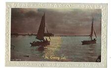 "Blackpool Real Photo Postcard ""An Evening Sail"""
