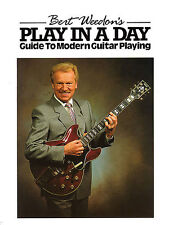 Burt Weedon's Play In A Day Guide To Modern Guitar Playing Beginner Music Book