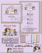 Evie & Pal Purple Boutique COMPLETE EBAY STORE DESIGN Raggedy Dreams
