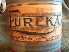 Eureka Gas / Oil Can, American Can Co. NY, Chicago, San Francisco RARE Vintage