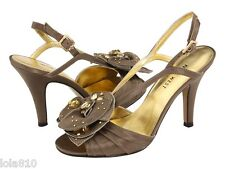 NINE WEST Women's JOVIAL 2 Ankle Strap Sandal Satin Crystals Studs Sz 8 $100 NEW