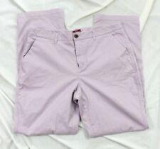 Merona Womens 14 Khaki Lavender purple pants trousers fit 1 Cotton blend stretch