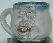 VINTAGE Stoneware UGLY FACE Mug Signed