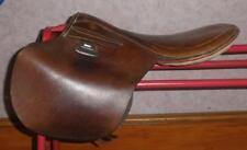 "Vintage/Antique Tan Leather Pony Pad Saddle 14""/15"""