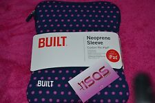 BUILT NY NEOPRENE SLEEVE FITS IPAD ALL MODELS BLUE PURPLE POLKA DOT DOT