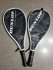 Lot of 2 - Dunlop Biotec Junior Pro Tennis Racquets & Covers