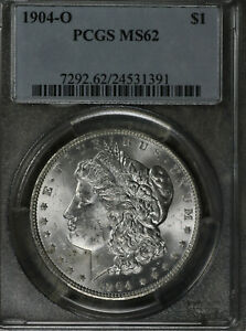 Nice Uncirculated 1904-O Morgan Silver Dollar!  VAM 2A!  Clashed G!  PCGS MS62!