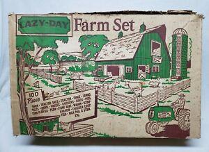 Vintage Marx Lazy-Day Farm Set Playset In The Original Box Wow!