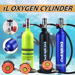1L Diving Oxygen Cylinder Air Tank Pump Scuba Regulator Underwater Breath  /