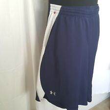Under Armour XL  Mens Gym Shorts Navy Blue/white loose fit sportswear activewear