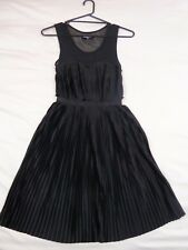 Dangerfield 6 Black Pleated Dress Retro Vintage Look