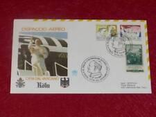 Pope Jean Paul Ii/Trip / Travel Cologne Germany Dispaccio Aereo 1987 Fdc Premier