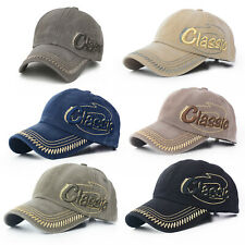 Mens Womens Distressed Baseball Caps Hat Hip-Hop Adjustable Peak Hats Headwear