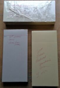 "surplus paper stock 4"" x 8.5"" 80# India Beckett Cambric/White/Empire Grey Cover"