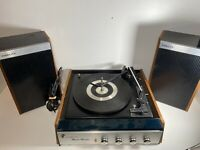 Vintage Fidelity Music Master Record Player with Original Speakers Untested