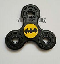 Tri-Spinner Fidget Toy Ceramic EDC Hand Finger Spinner Desk Focus BLACK Bat
