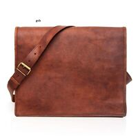 Men's Boy's Leather Vintage Laptop Handmade Briefcase Bag Satchel Messenger