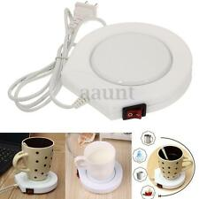 220v White Electric Powered Drink Cup Warmer Pad Coffee Tea Milk Mug Heater