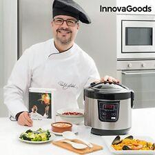 Robot de cocina con recetario Smart Innovagoods 4 L 800w negro acero