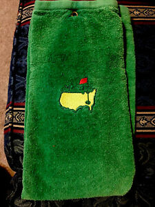 The Masters Green Woven Golf Towel Augusta National