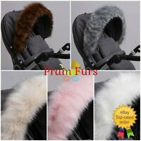 Royal Fur Pram Hood Fur Trim Baby Pram Accessory Buggy Universal Fit