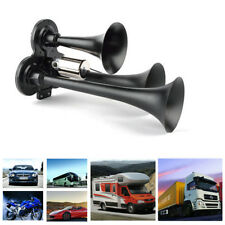 12/24V Ultra Loud Car Boat Truck Air Horn 3-Trumpet Durable Metal Compact Kit