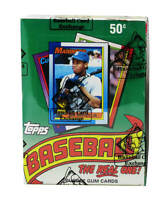 1990 Topps Baseball Wax Box BBCE FASC Wrapped From A Sealed Case (36 Packs)