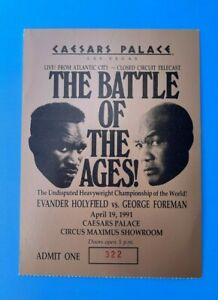 Caesars Palace Holyfield vs Foreman Boxing Fight Showroom Ticket 1991
