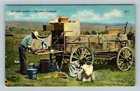 The Chuck Wagon, The Cowboys Kitchen, Ranch, Vintage Postcard