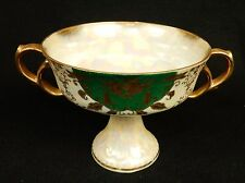 Vintage Pearlescent Chalice/Compote/Mint Dish, Green & Gold, Royal Sealy Japan