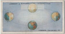Earth Temperature Caused By Inclination Of Earth's Axis 1920s Trade Ad Card