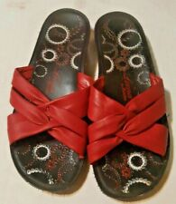 Leena By Bata Black Wedges Sandals Slip-on Shoes Sz 7M Womens