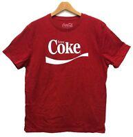 Coca-Cola Men's Enjoy Coke Graphic Licensed T-Shirt Heather Red New