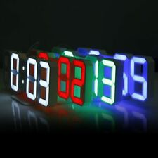 Wall Clock Digital 3d Led Display Alarm Clocks Home Modern Kitchen Office Snooze