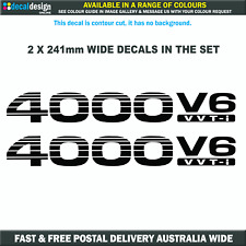 Prado 4000 V6 vvt-i x2 decals in a set suits Toyota 4x4 rear quarter panel #P003