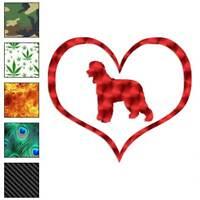 Heart Irish Water Spaniel Dog Decal Sticker Choose Pattern + Size #1471