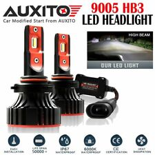2X FANLESS 9005 HB3 LED Headlight Kit High Beam Super White Bulb 12000LM A8 EOA
