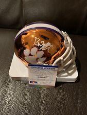DJ Uiagalelei Signed Clemson Tigers Chrome Alternate Mini Helmet PSA/DNA