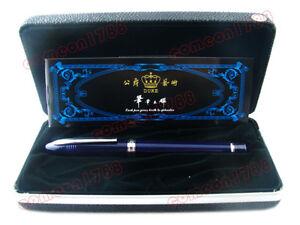 DUKE 911 Blue Shark Shape Fountain Pen, Iridium Medium Nib with Gift Box Set